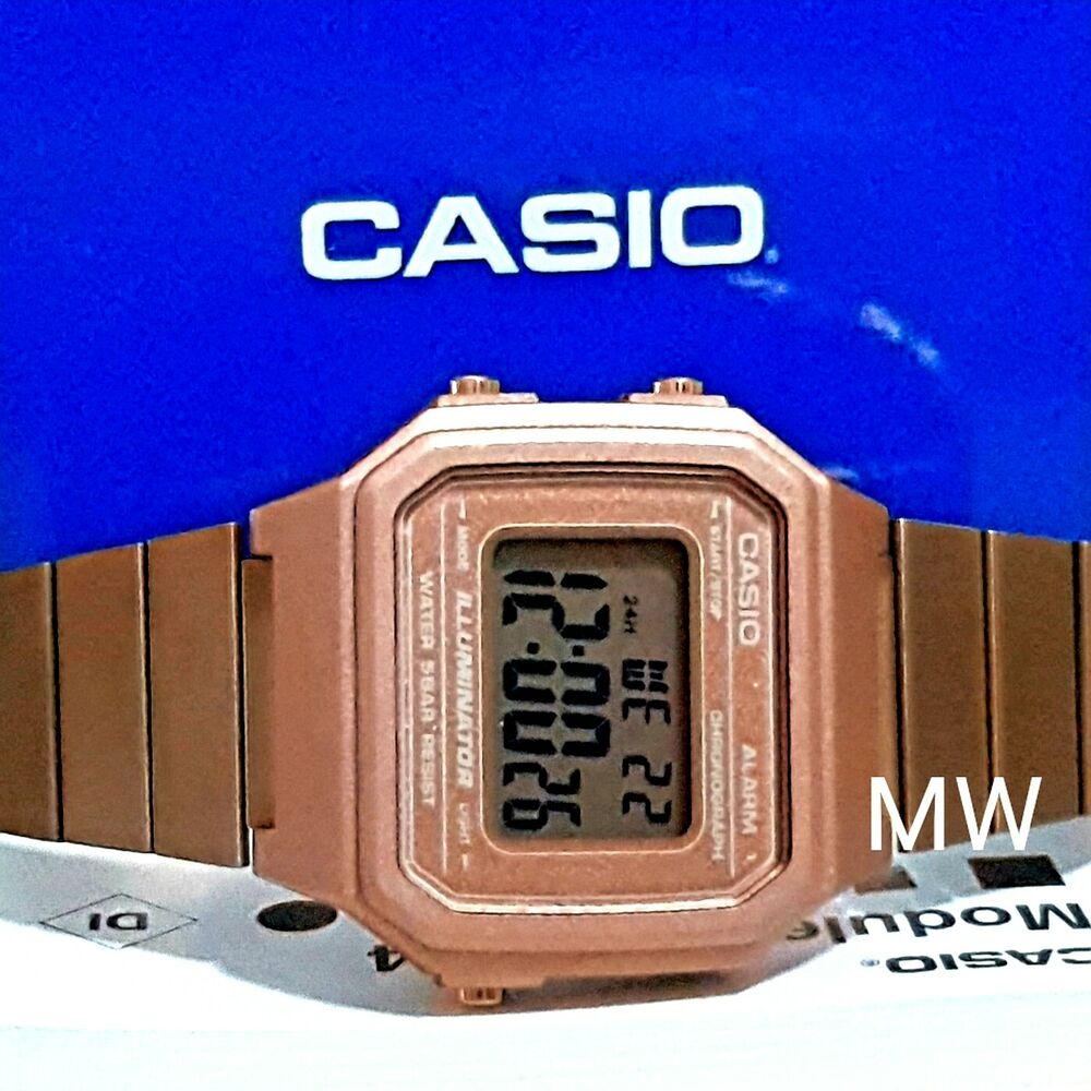 9340d0b8fea Details about New Casio Vintage Rose Gold Digital Stainless Steel Watch  B650WC-5A B650WC-5A