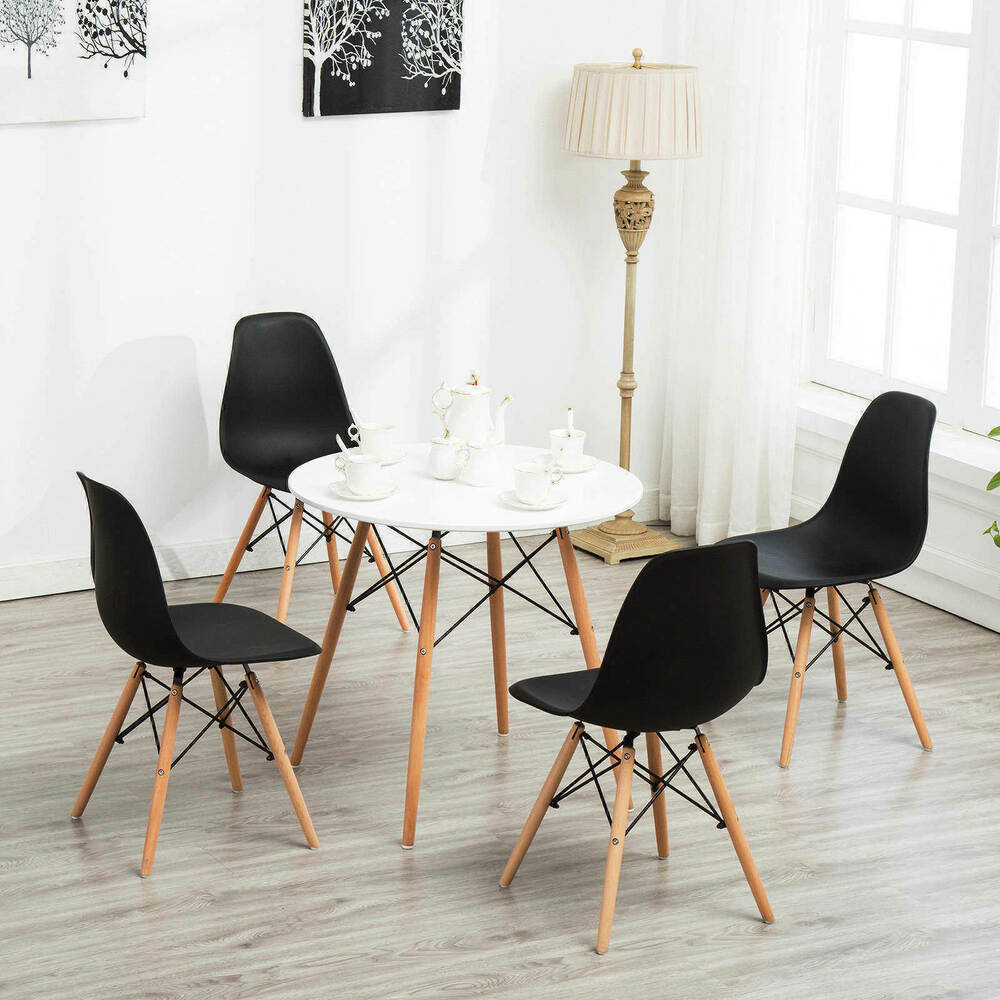 Details About Modern White Vogue Dining Table Carpenter Round Coffee Kitchen Furniture