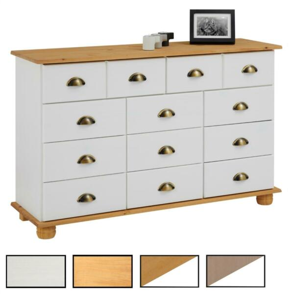 Commode apothicaire chiffonnier 11 tiroirs pin massif