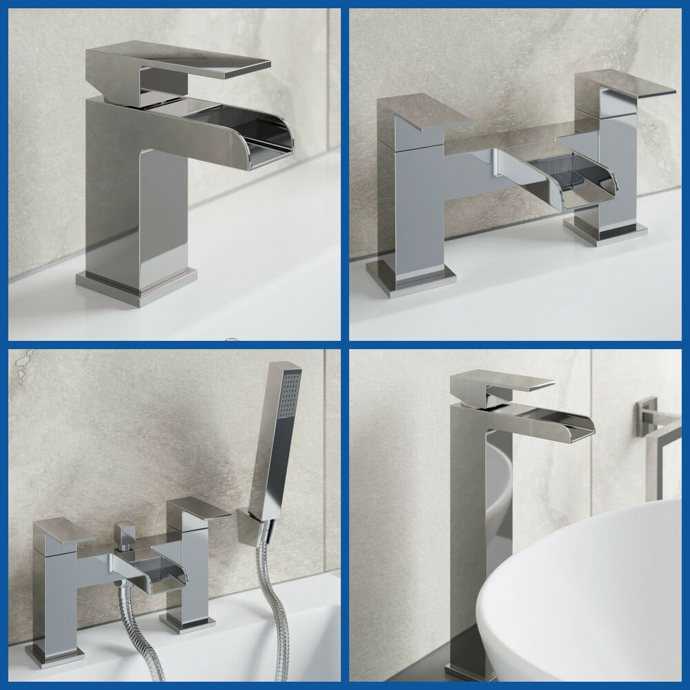 Bathroom Taps Chrome Basin Mixer Bath Filler Shower Deck ...