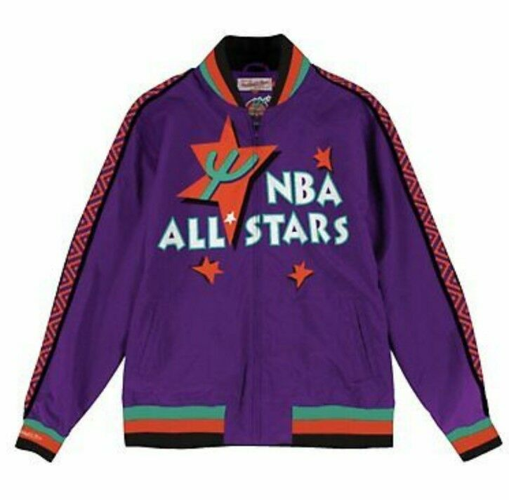 Authentic Mitchell  Ness NBA All Star Weekend Team History Warm up Jacket  Purple 38665bd10