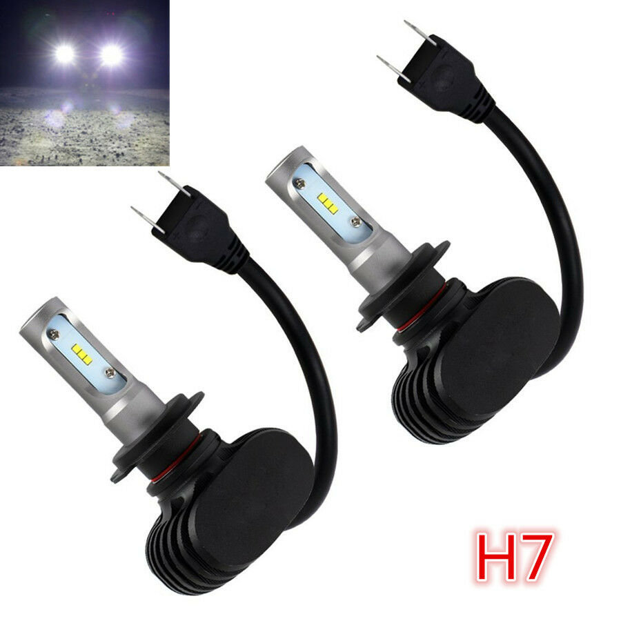 2st ck h7 s1 led auto scheinwerfer gl hlampe fern abblend birnen 50w 8000lm wei ebay. Black Bedroom Furniture Sets. Home Design Ideas