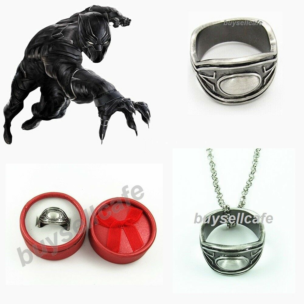 Marvel Black Panther Wakandan Royal RING Necklace CHAIN T Challa Cosplay IN  BOX  b13e650b3ef8