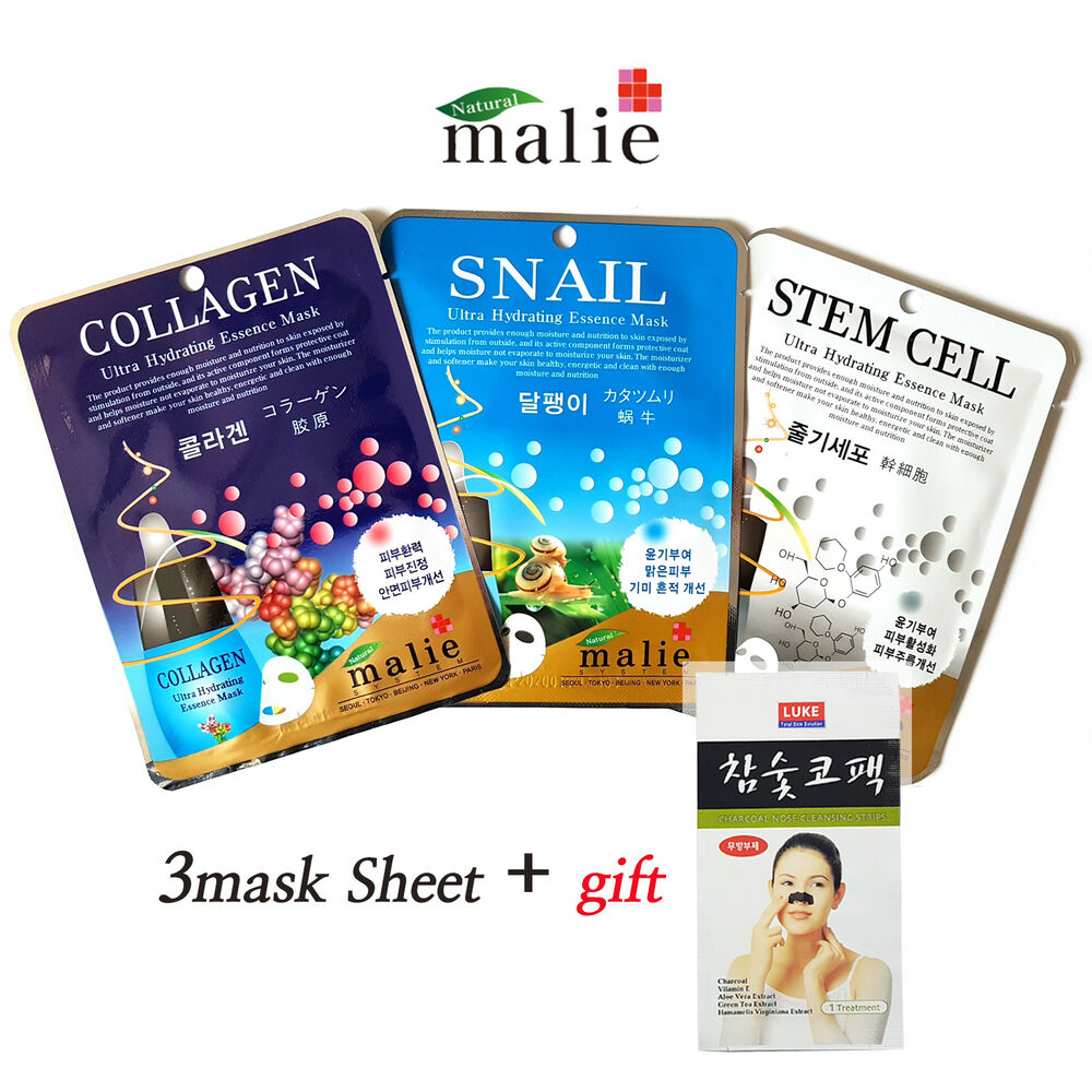 3pcs Malie Ultra Hydrating Essence Mask Sheet Korean Cosmetics Nature Republic Greentea Bundling Nutrition Pack Ebay