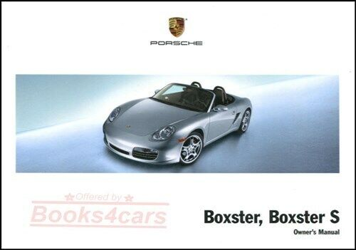 boxster 2008 porsche owners manual owner s handbook ebay rh ebay com 2004 porsche boxster owners manual 2004 Boxster Interior