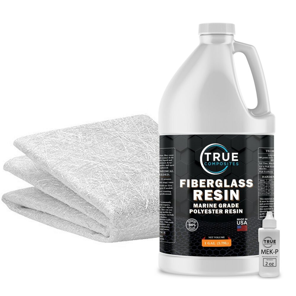 Fiberglass Repair Kit 1 Gallon Of Polyester Resin And
