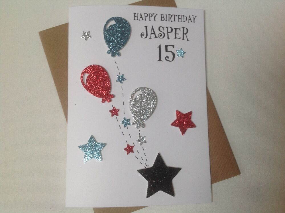 Details About Handmade Personalised Birthday Card Teenager 13th14th15th16th17thBoy