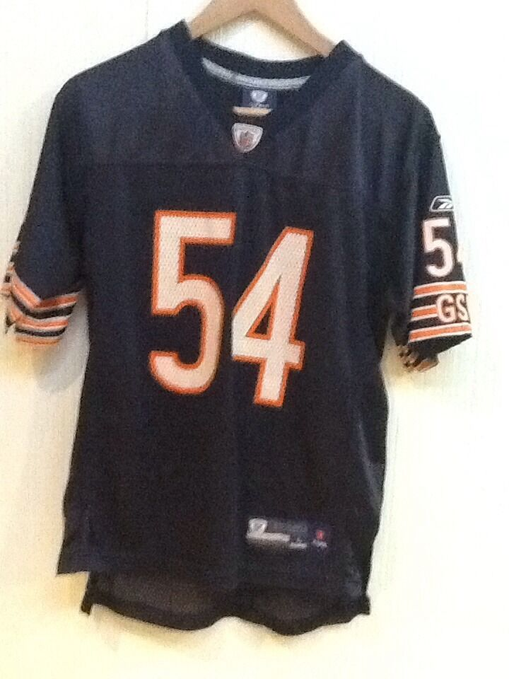 68152ce20 NFL Reebok Brian Urlacher youth L 14-16 blue Chicago Bears On-Field 54  jersey