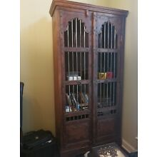 Antique Custom Made Bookcase made with doors of an old Coin Exchange