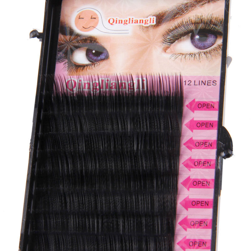New Volume Individual Blink Tray Lash B C D J Curl False Eyelash