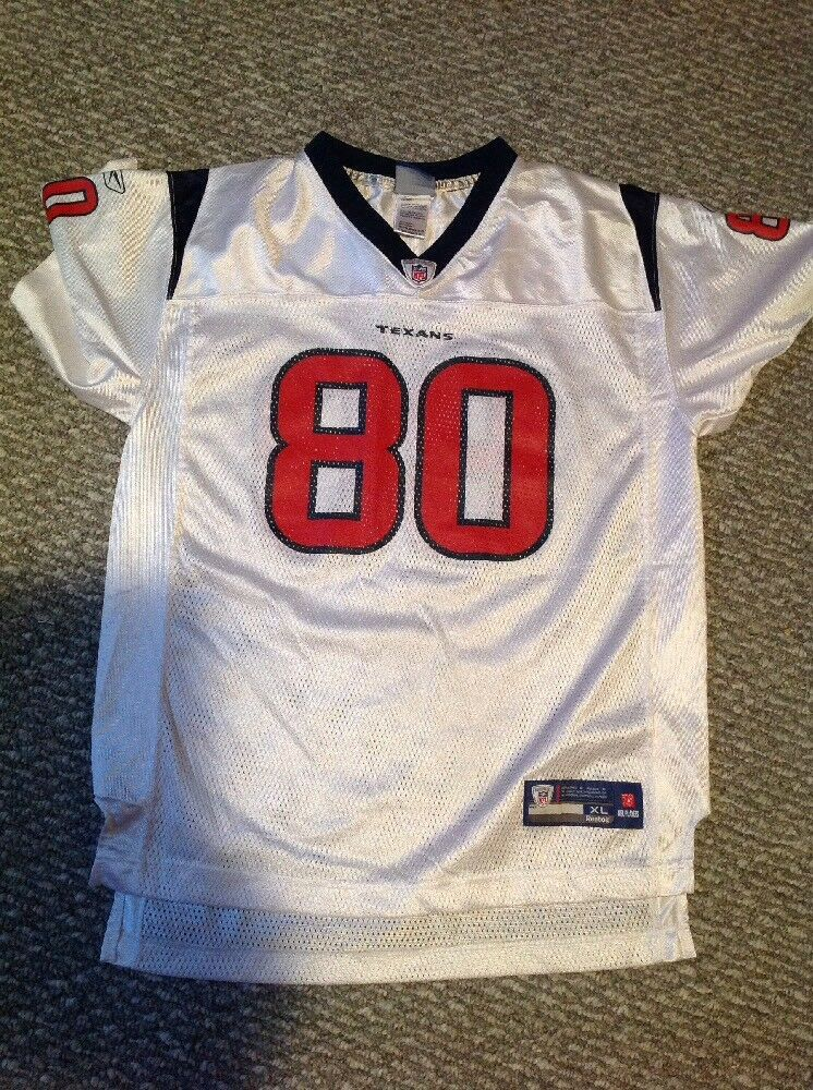 a0fef9c7b Andre Johnson Texans  80 Reebok NFL Equipment Youth XL Jersey