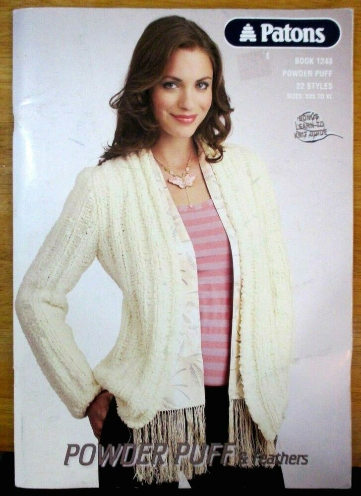 Patons Knitting Pattern Book 1243 Womens Jumpers Cardigans Size