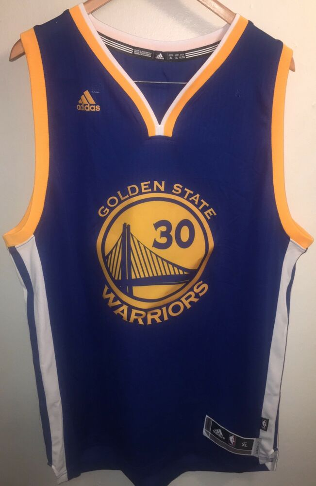 Adidas Golden State Warriors Stephen Curry NBA Throwback Swingman Jersey XL   741ead7f2