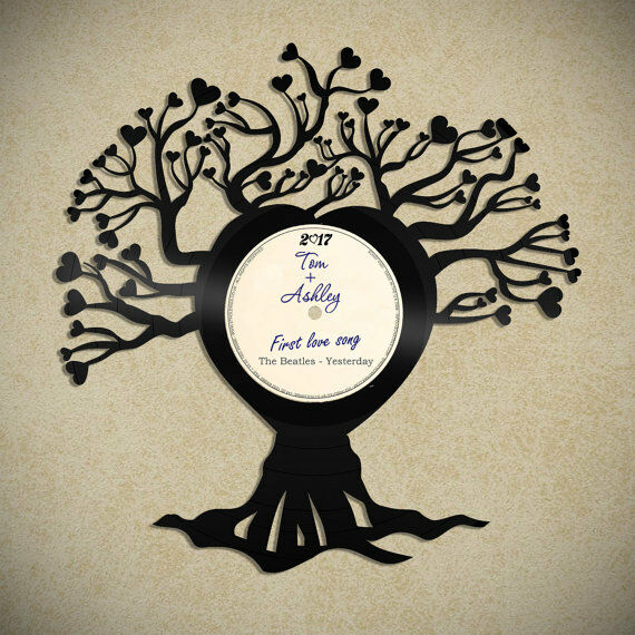 personalised family tree vinyl wall art handmade unique gift