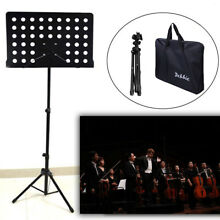 New Iron Black Adjustable Folding Music Stand Holder Fold Stage Carrying Bag