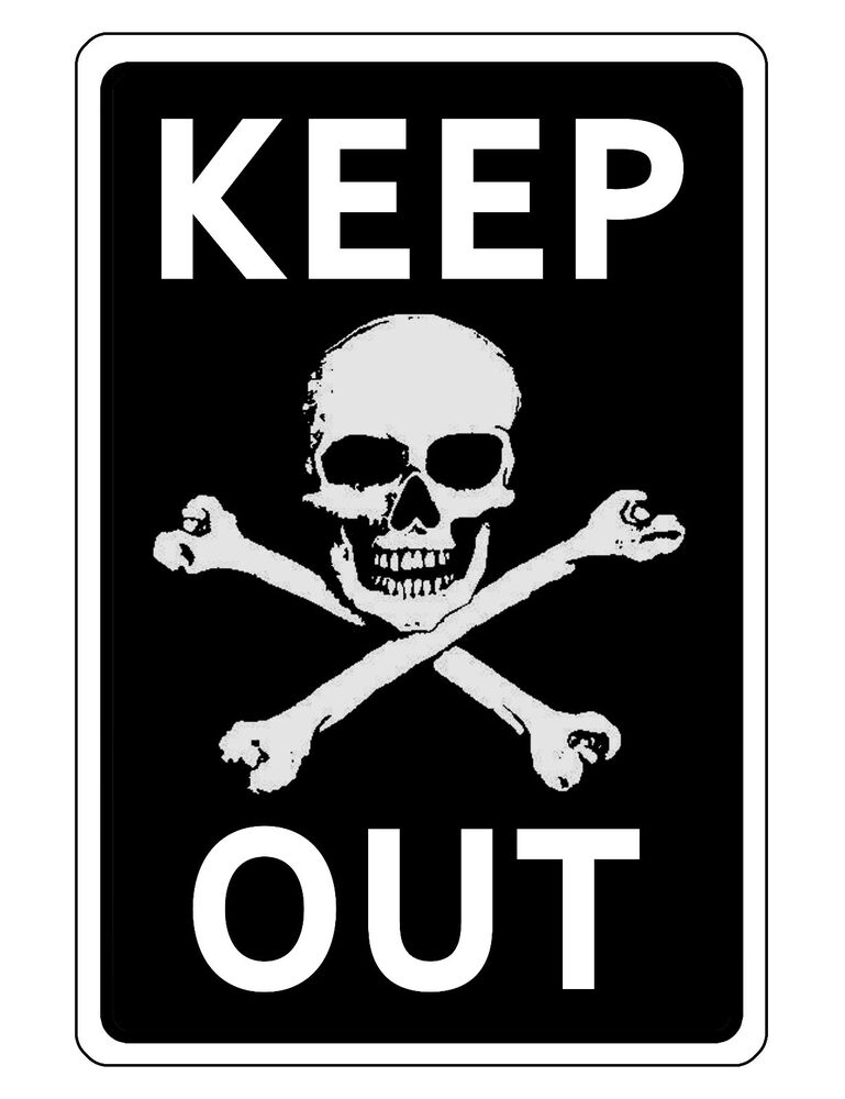 KEEP OUT SIGN DURABLE ALUMINUM NO RUST FULL COLOR CUSTOM ...