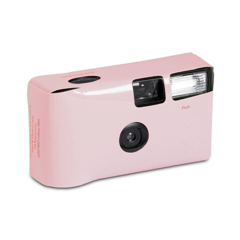 Wedding Disposable Cameras: Disposable Camera With Flash Pastel Pink Party Favour