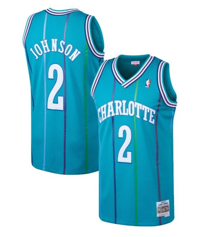 179aea5ac Larry Johnson  2 Charlotte Hornets Mitchell   Ness Mesh NBA Throwback Jersey