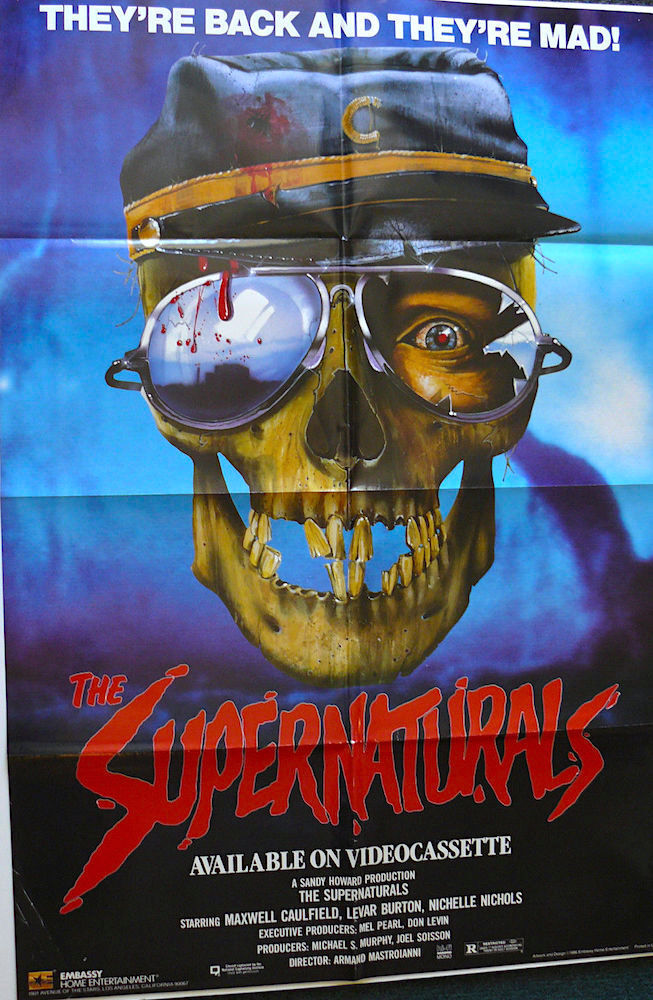 1986s The Supernaturals Original Folded 27x41 Os Video Poster Ebay