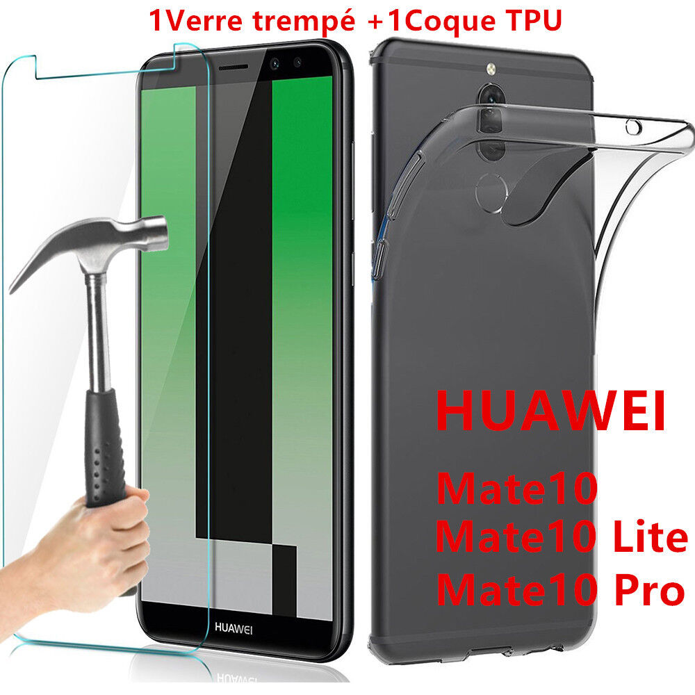 housse silicone coque film verre tremp protection pour huawei mate 10 lite pro ebay. Black Bedroom Furniture Sets. Home Design Ideas