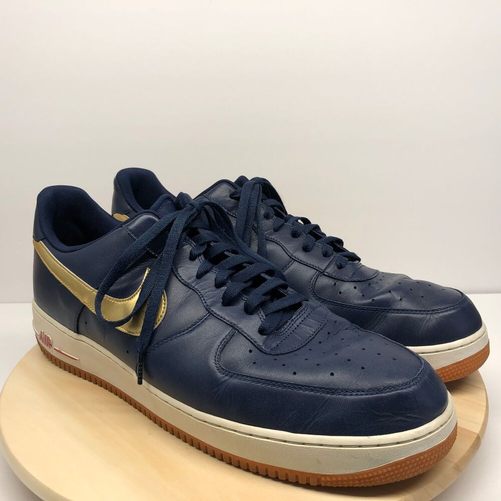 new concept 4c205 a921a Nike Air Force 1 USA Olympic 2012 Midnight Navy Gold SZ 18 488298-406 (B39)    eBay