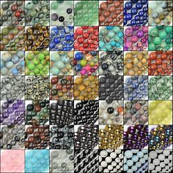 Natural Gemstone Round Beads For Jewelry Making Loose 15