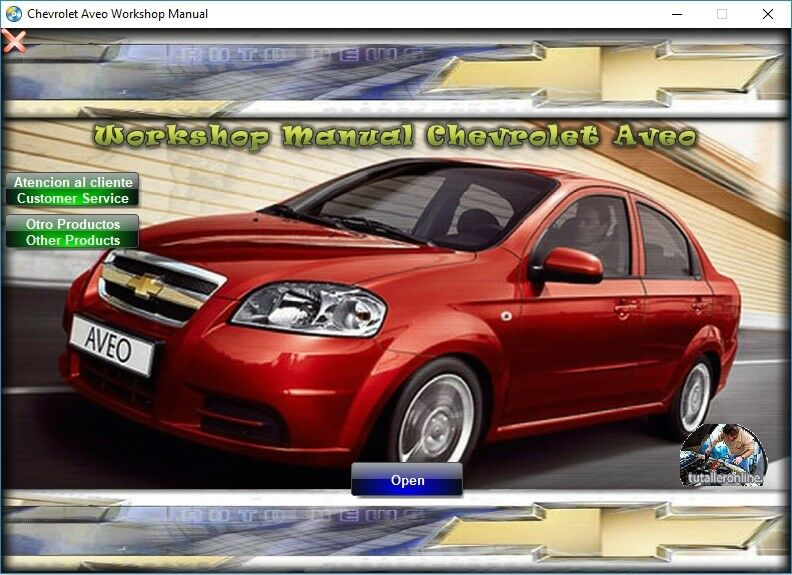Factory Service Manual Fsm Repair Manual For Chevrolet Aveo 2011