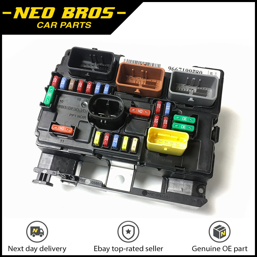 Genuine Engine Bay Fuse Box (BSM) for Citroen C3 Picasso Peugeot 207,  6500HW | eBay