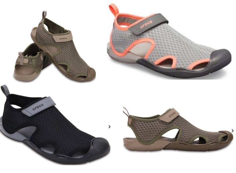 30956c59cc4cfb Details about Women s CROCS Swiftwater Strap Sandals Shoes Black