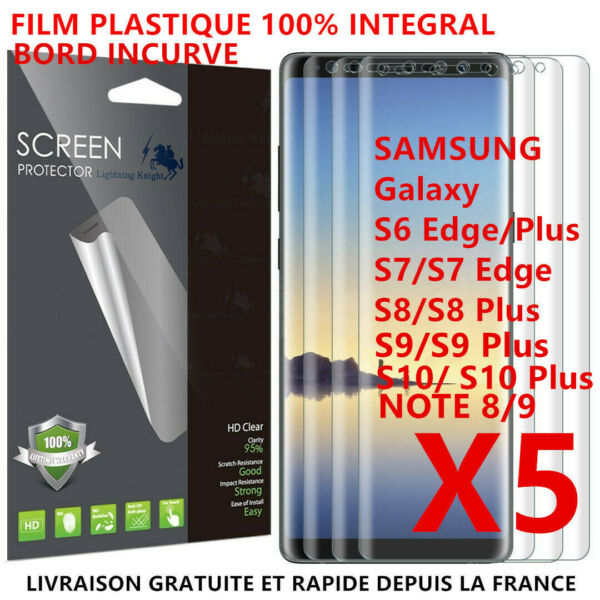 Film Protection Ecran Plastique 3D Total Samsung Note 8 9 S8 S9 S7 S6 Edge S10 +