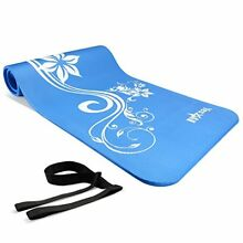 Thick Non Slip Yoga Mat Pad Exercise Fitness Pilates Camping Workout w Strap