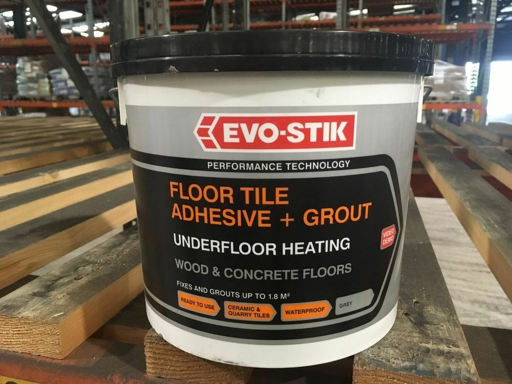 Wood Or Concrete Floor Tile Adhesive Grout Grey Formulated