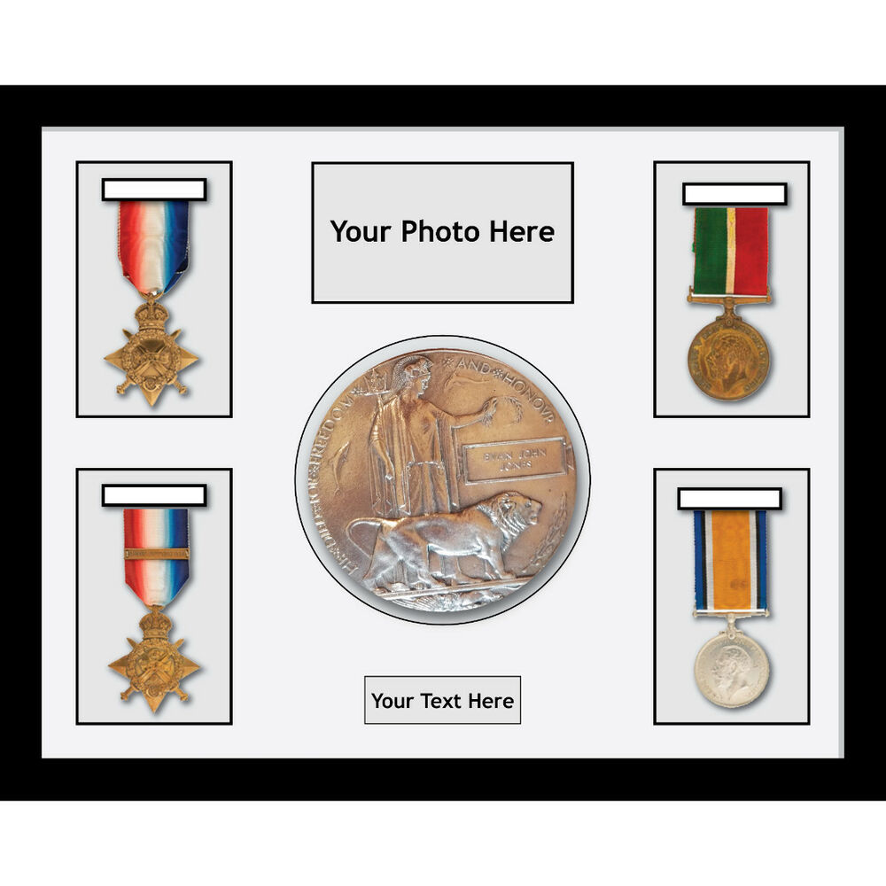 Medal Frames World War Military Medals 4 And Memorial Plaque - 1 ...