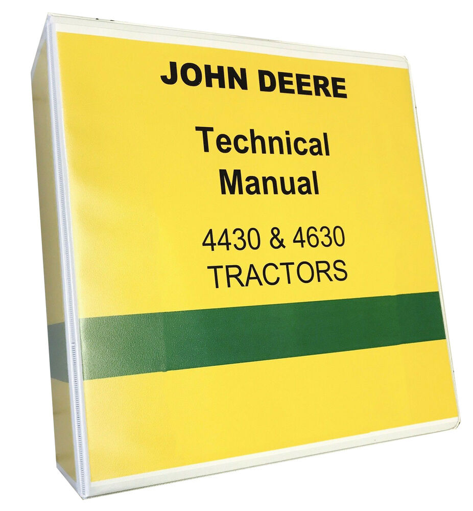 John Deere 4630 Technical Service Manual SHOP MANUAL Tractor 1050 pages! |  eBay