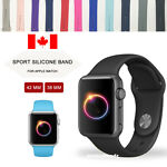 For Apple Watch Band 42mm 38mm Silicone Band S-M M-L Various Colors