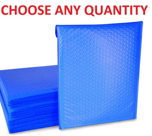 #0 6x10 BLUE POLY BUBBLE MAILERS SHIPPING MAILING PADDED ENVELOPES 6