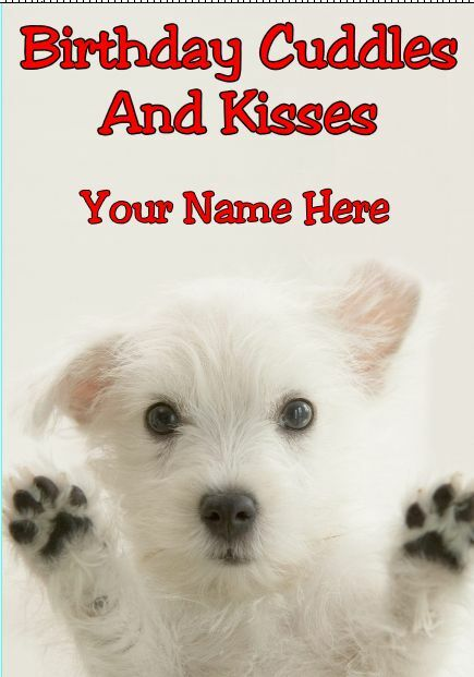 Details About Westie A5 Personalised Greeting Card Happy Birthday DOG Design PIDWES1