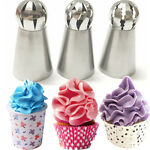 3pcs Sphere Ball Russian Icing Piping Nozzles Tips Cake Decor Pastry Cupcake GOG