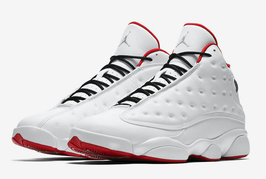 e034ac3dc5c5d5 Details about Air Jordan Retro 13 XIII History Of Flight White Red  414571-103 sz 8-13