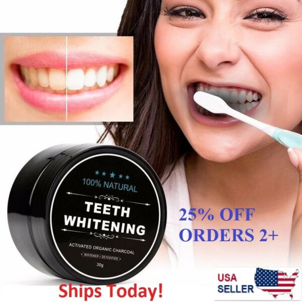 Natural Whitening Tooth Gum Powder Coconut Activate Charcoal Toothpaste VALUE