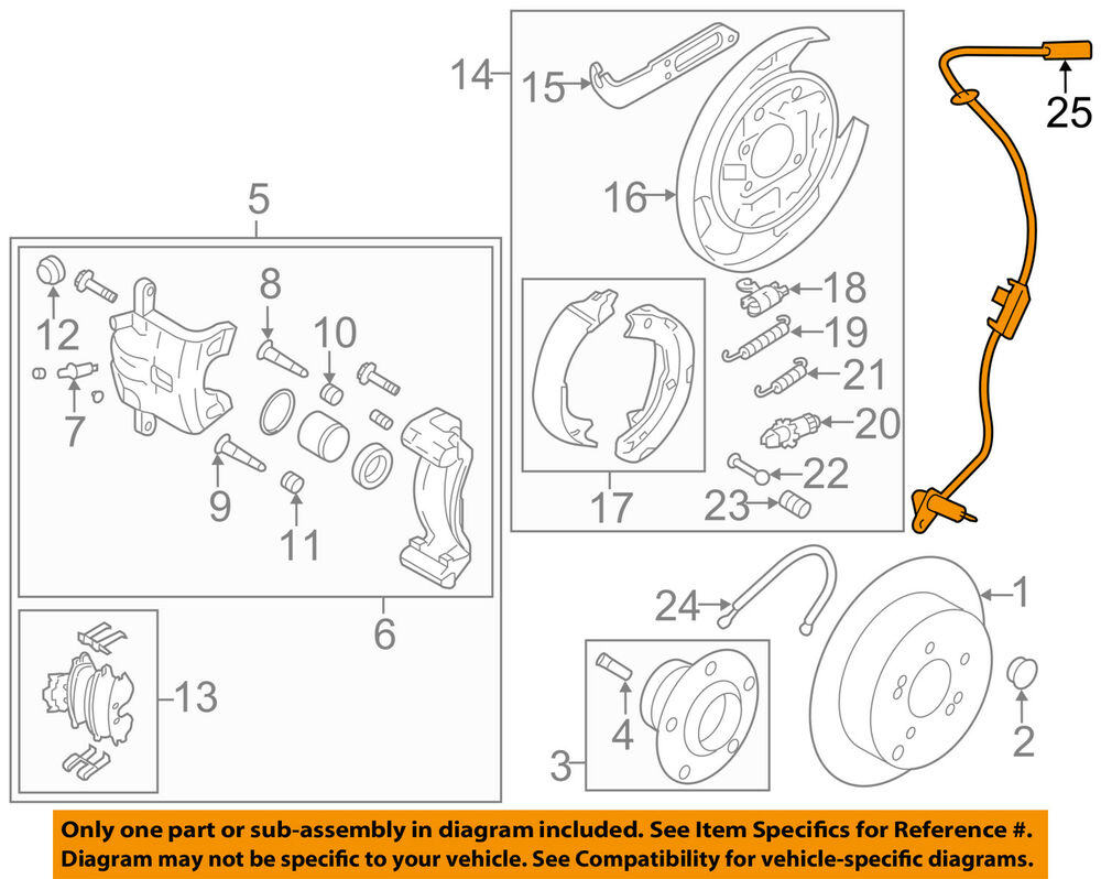 Hyundai Oem 10 14 Tucson Abs Anti Lock Brakes Rear Speed Sensor Gl Break Wiring Diagram 956802s300 Ebay