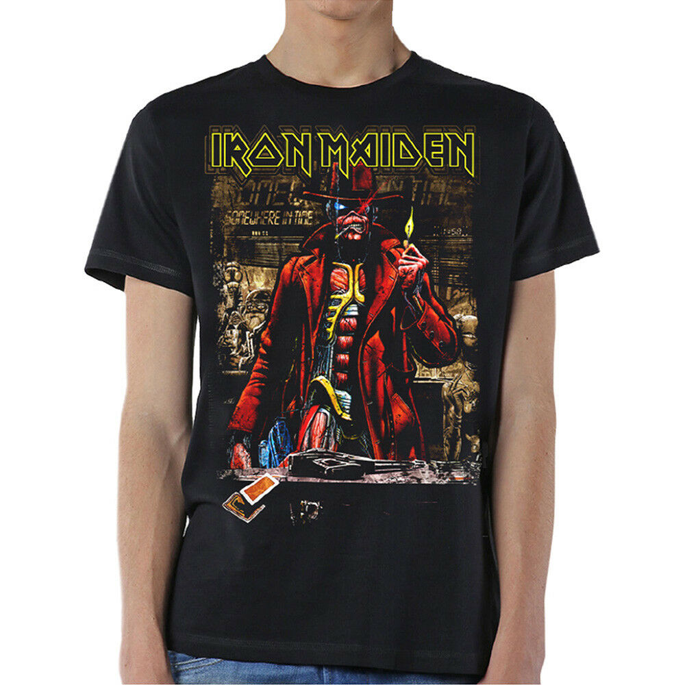 7078581e04b Details about Official T Shirt Iron Maiden Somewhere In Time STRANGER Sepia
