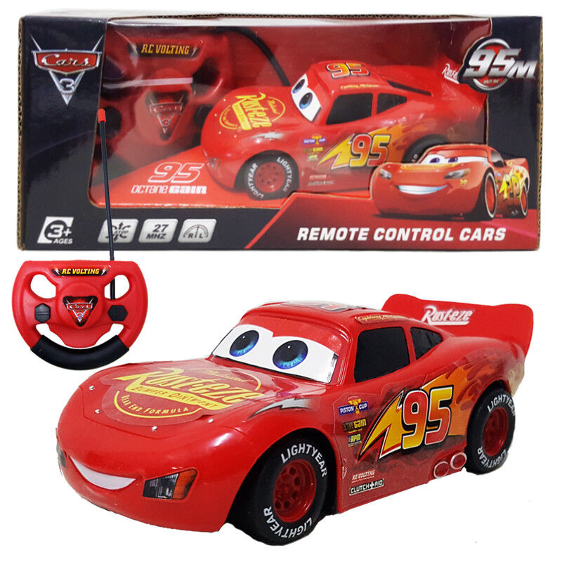 Details About Disney Pixar Cars Lightning Mcqueen Electric Rc Radio Remote Control Vehicle Toy