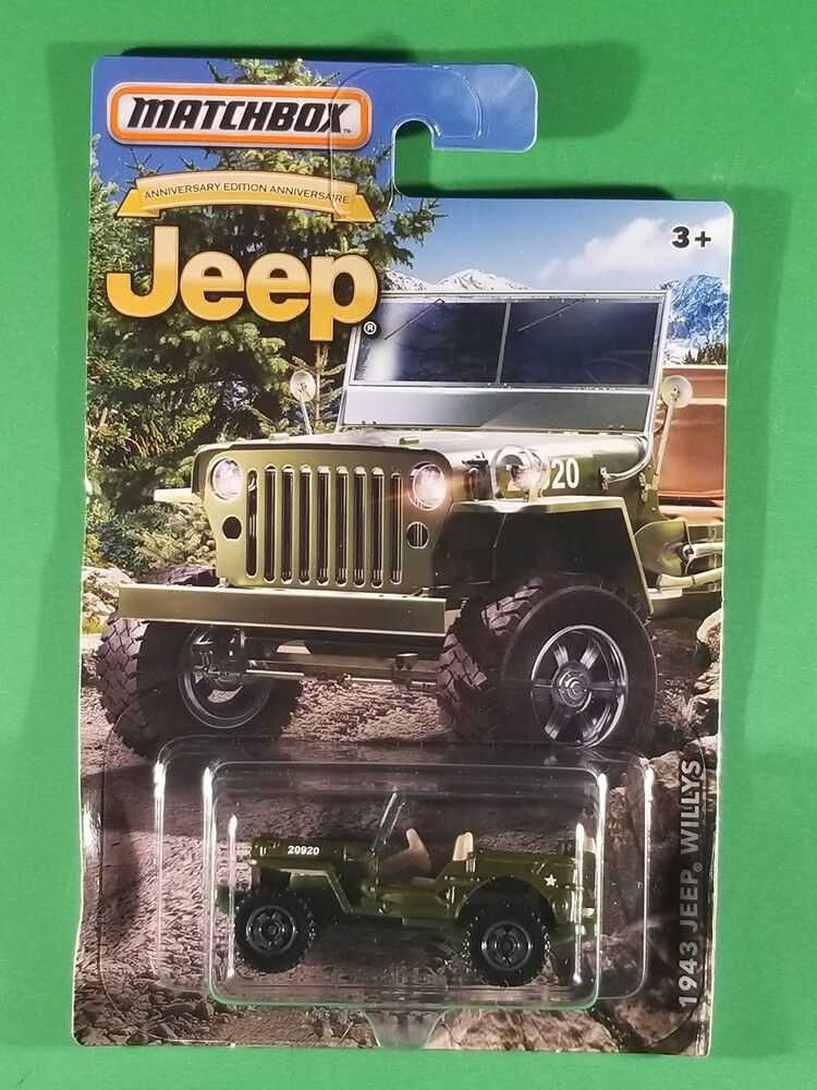 MATCHBOX LIMITED EDITION JEEP ANNIVERSARY EDITION GREEN 1943 JEEP WILLYS