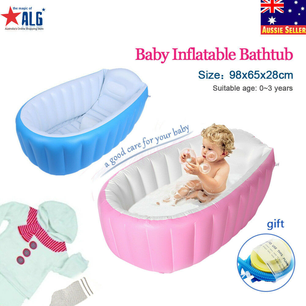 Baby Kid Inflatable Bath Tub Portable Newborn/Toddler Thick Bathtub ...