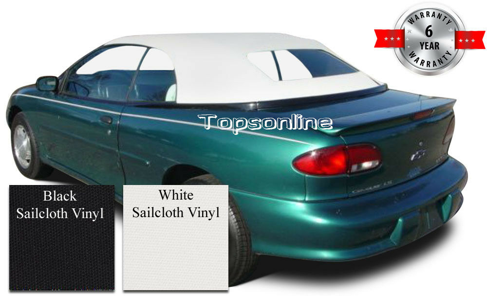 Details About Cavalier Sunfire Convertible Top W Non Heated Gl Video Sailcloth 98 2000