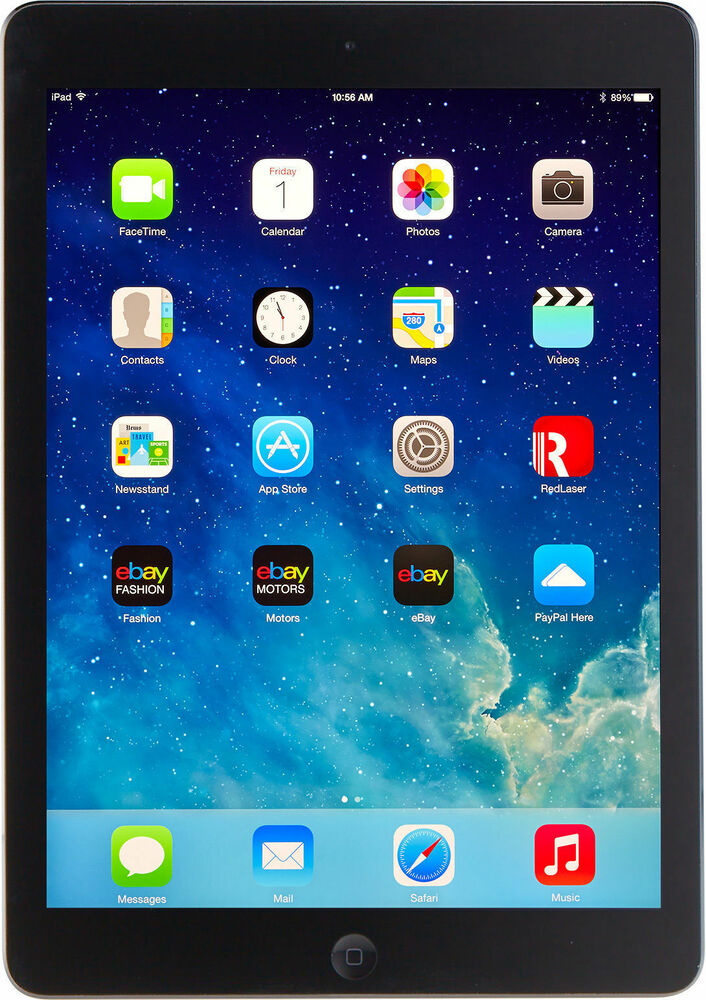 apple ipad air 1st gen 16gb wi fi space gray ebay. Black Bedroom Furniture Sets. Home Design Ideas