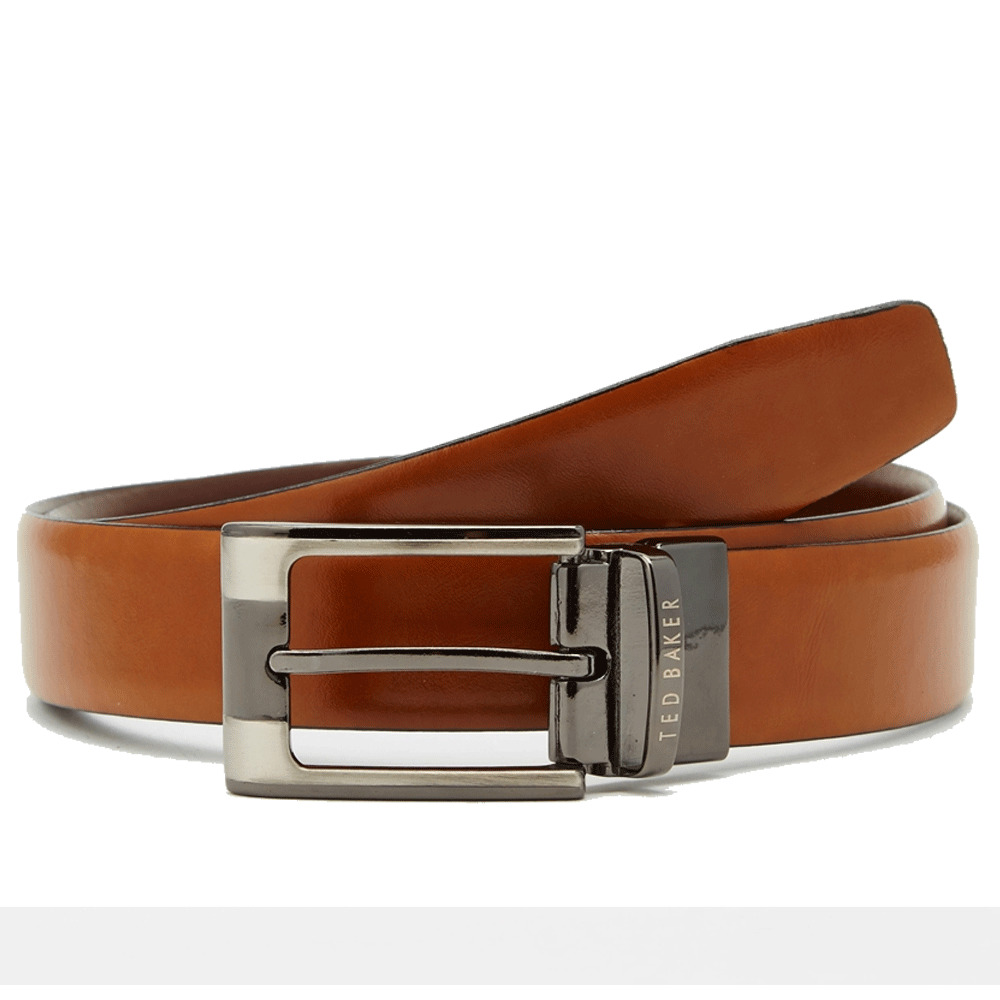 b8e63d0d3b720 Details about Ted Baker Ted Baker Crafti Reversible Belt Tan Brown