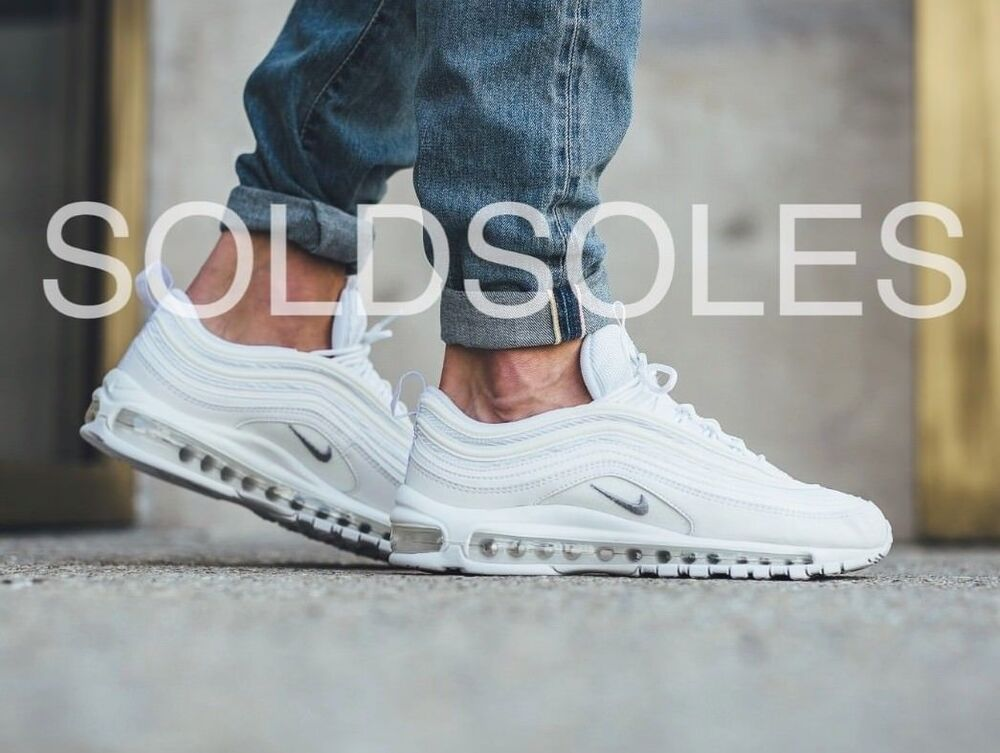 ae3073b0b7e Nike Air Max 97 Triple White Mens Sizes