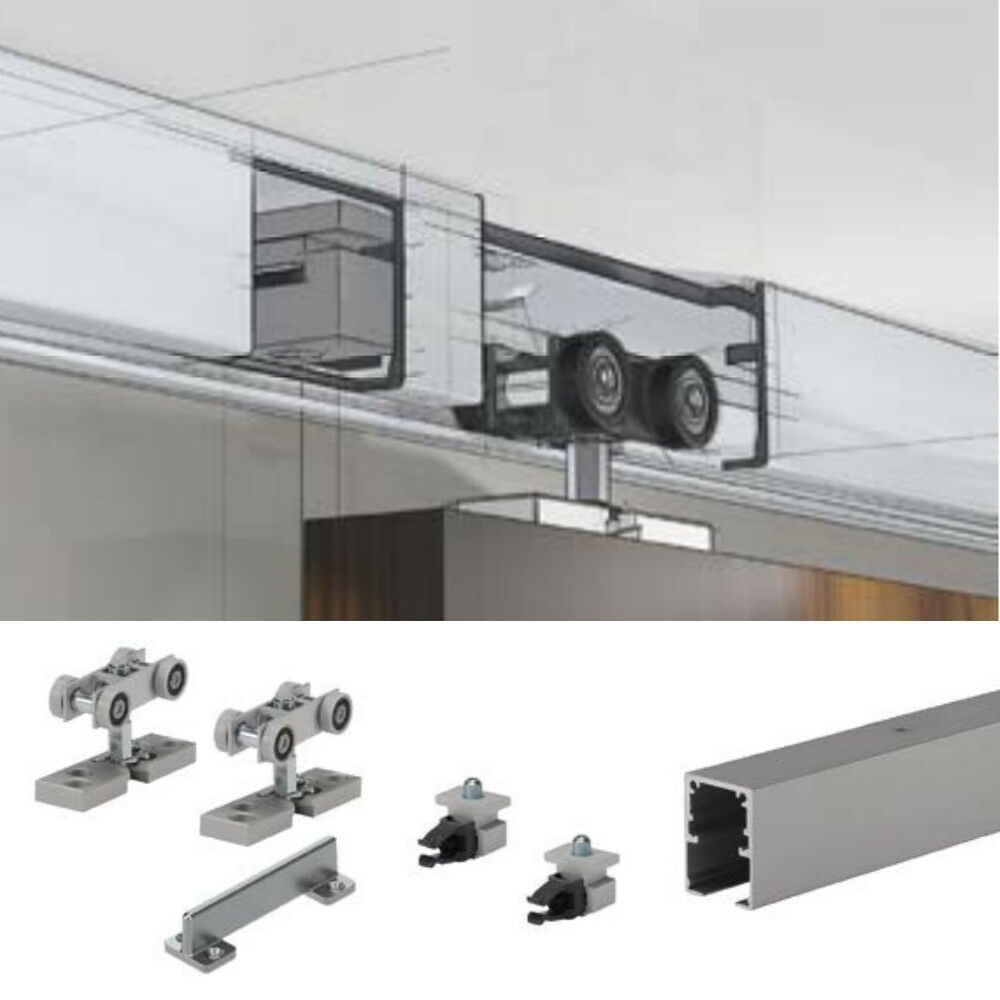 Hettich Tl Grant Sliding Single Closet Door Hardware And 4 To 10 Ft